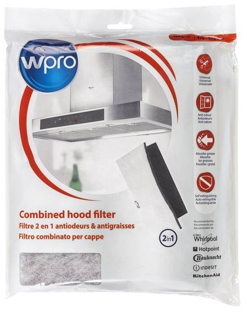 Filtro de Carvão Universal Anti-Gorduras e Odores p/ Exaustores (470 x 570mm 450gr/m2) UCF016 - WPRO