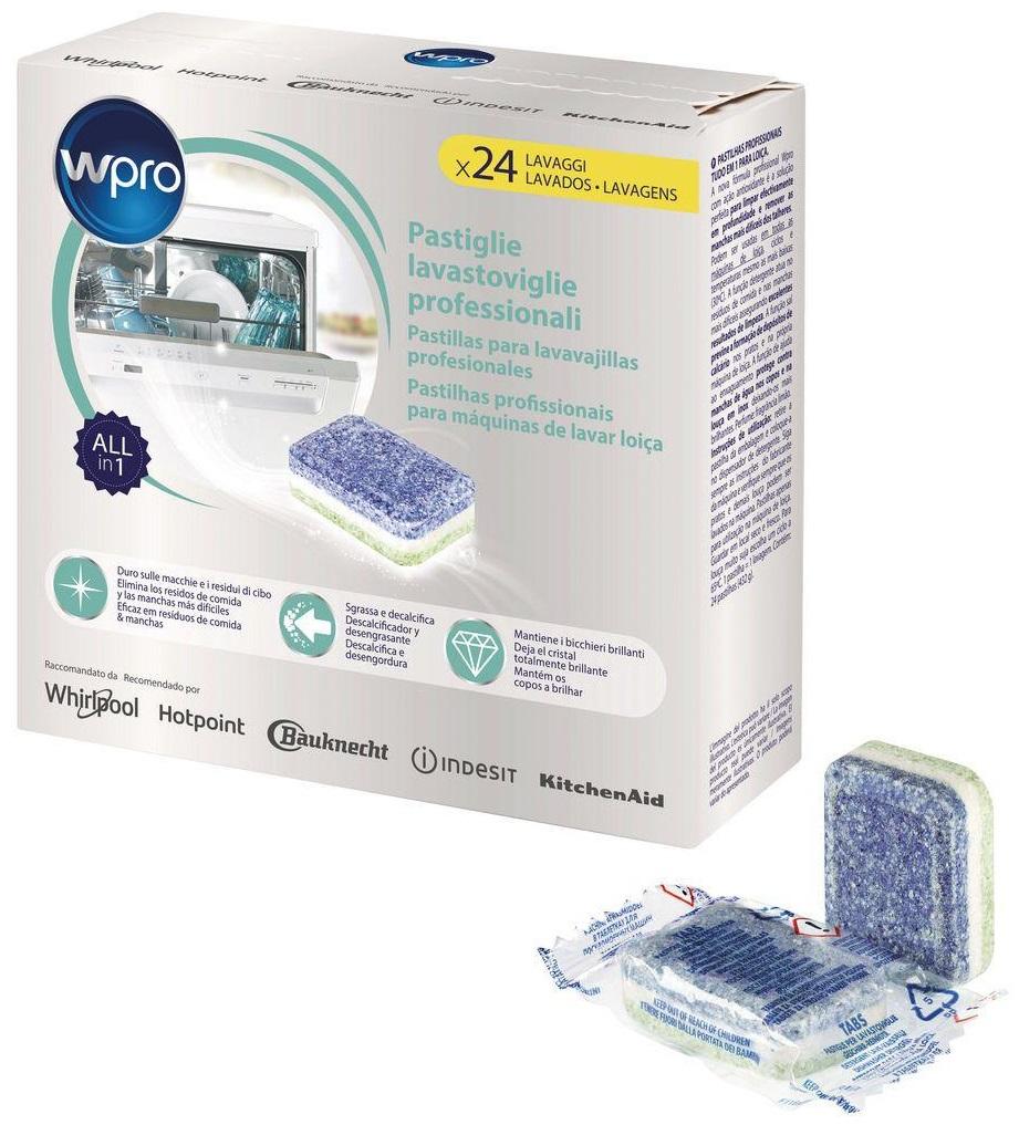 Pack 24x Pastilhas p/ Máquinas Lavar Louça TAB200 - WPRO