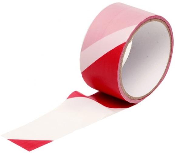 Fita de Barramento/Alerta/Perigo (Vermelho/Branco) 48mm 25 mts - KINZO