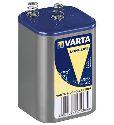 Bateria Zinco-Carvão 4R25 6V 7500mAh - VARTA