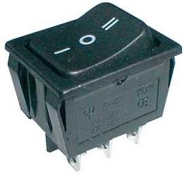 Interruptor Comutador 3 Posições 15A 250V Preto