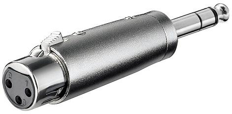 Ficha Adaptadora Canon Femea - Jack 6,5mm Macho Stereo