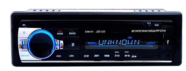 Auto Rádio MP3 60W com FM/MMC/SD/USB/AUX/BLUETOOTH + Comando - ProFTC