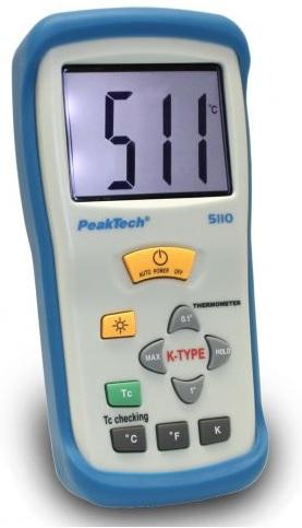 Termómetro Digital 1 CH, 3 1/2 Dígitos / -50 ... + 1300 ° C - PeakTech