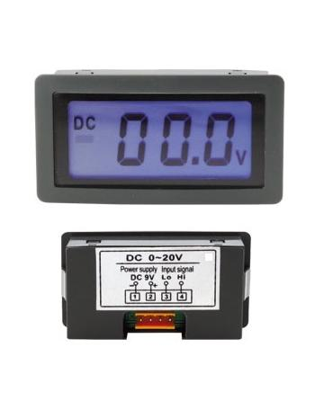 Voltimetro de Painel LCD (0...20VDC)