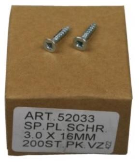 Caixa 200 Parafusos t/ Cruz (3.0x16mm)