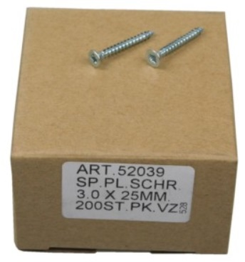 Caixa 200 Parafusos t/ Cruz (3.0x25mm)