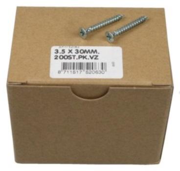 Caixa 200 Parafusos t/ Cruz (3.5x30mm)