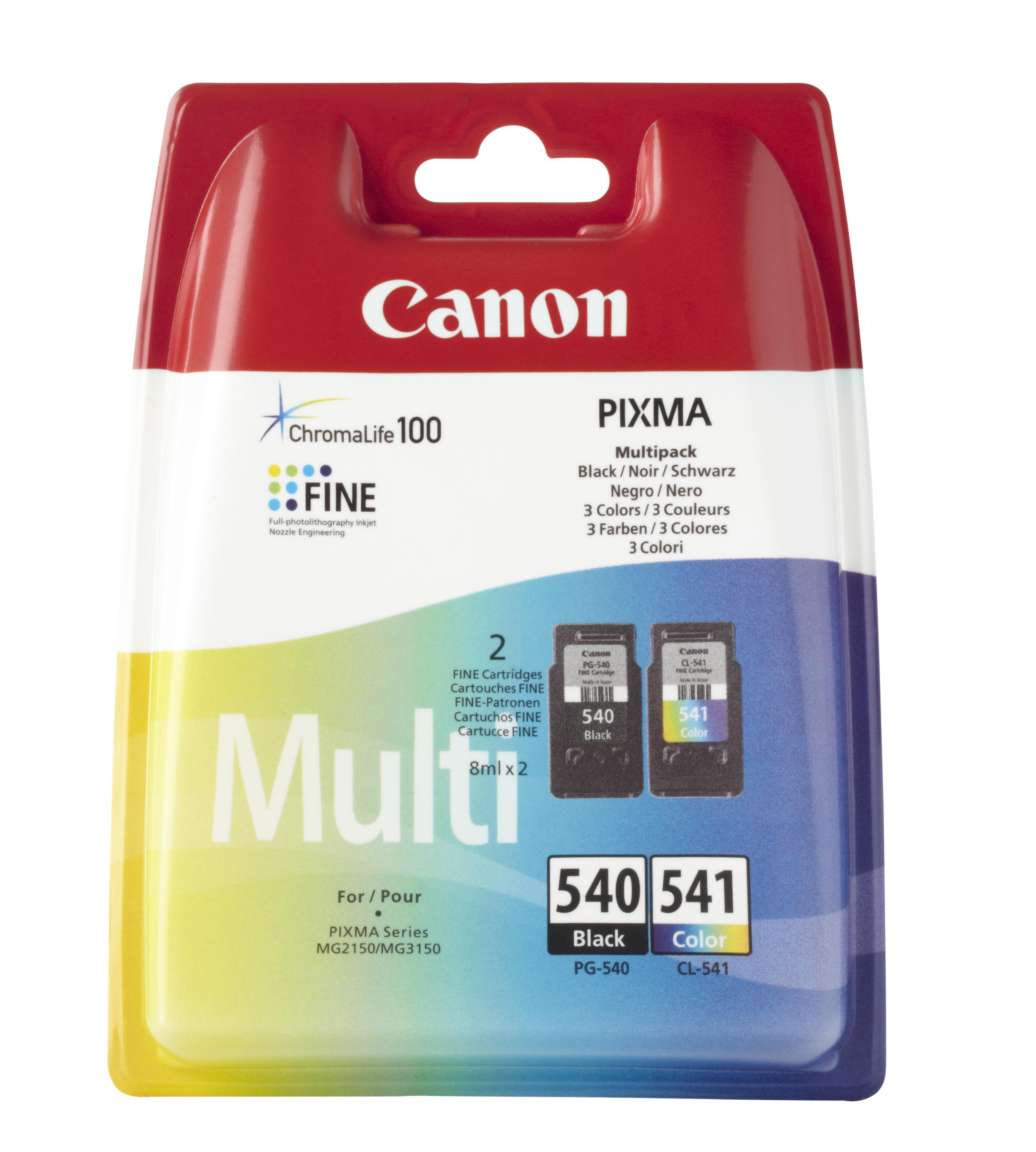 Pack 2x Tinteiros PG-540/CL-541 (Preto/Cores) - CANON