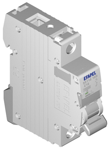 Disjuntor MT - 1P - 4,5kA - C - 6A Série MODUS55 - EFAPEL