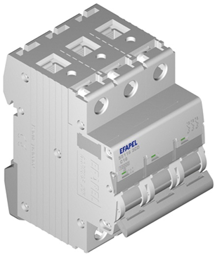 Disjuntor MT - 3P - 4,5kA - C - 16A Série MODUS55 - EFAPEL