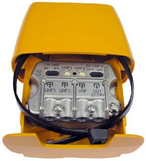 Amplificador de Mastro 3E/1S UHF [dc] UHF-VHFmix - TELEVES