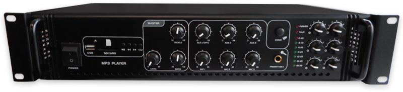 Amplificador PA Profissional 180W RMS c/ Linha 100V - ProFTC