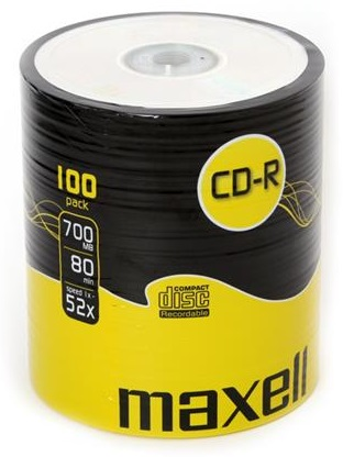 CD-R 52x 700MB (Pack 100) - MAXELL