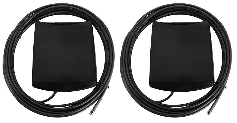 Pack 2x Antenas Transmissão/Recepção Sinais 4G/LTE c/ Cabo 7,5 mts - TELEVES