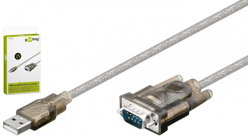 Cabo Adaptador USB p/ SERIAL RS232 (1,5 mts) - GOOBAY