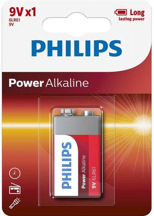 Pilha Alcalina 9V 6LR61 - PHILIPS