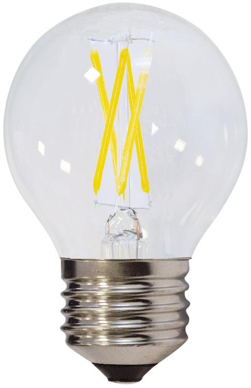 Lampada LED E27 Filamento 220V 6W Branco F. 6000K 540Lm