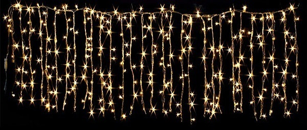 Cortina 200 LEDs (Decoração Natal) Branco Q. 3000K 200W - 2 x 2 mts