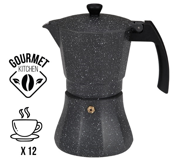 Cafeteira de Alumínio p/ Indução (12 Chávenas) - EDM
