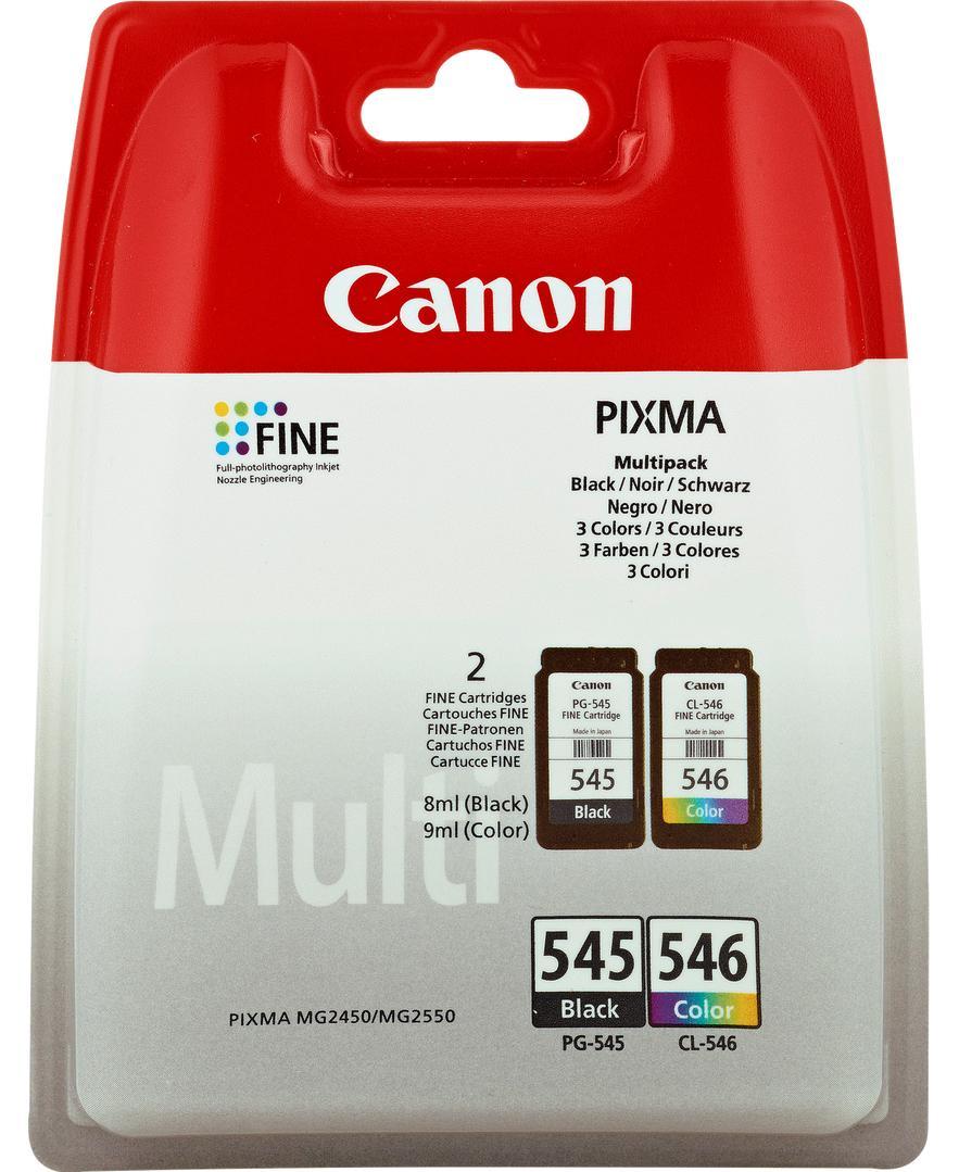 Packs 2x Tinteiros PG-545/CL-546 (Preto/Cores) - CANON