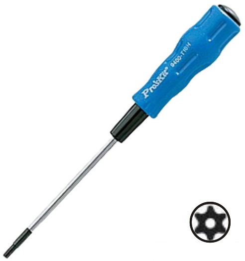 Chave Torx c/ Furo T20H (185mm) - Proskit