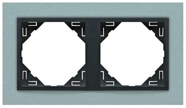 Espelho Duplo Série LOGUS90 (ANIMATO Alumina + Gris) - EFAPEL