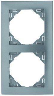 Espelho Duplo Série LOGUS90 (Cinza) - EFAPEL