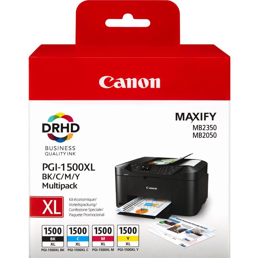 Pack 4x Tinteiros PGI-1500XL (Preto, Azul, Magenta e Amarelo) - Canon