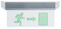 Armadura Saída Emergência (Dir.) LED 3,6V/60mAh (310x155x30)