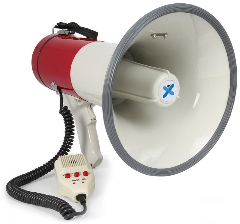 Megafone 50W c/ Sirene, Gravação + Microfone (MEG050) - VONYX