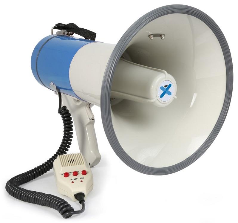 Megafone 55W com MP3/USB/SD/AUX/BLUETOOTH + Gravação, Microfone (MEG055) - VONYX