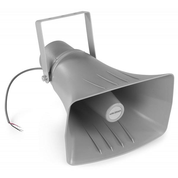 Corneta Exponêncial IP66 100V 40W (HS40) Cinzento - Power Dynamics