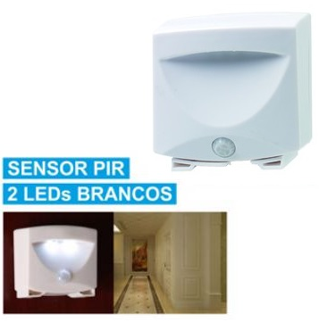 Luz Presença 2 LEDs Brancos c/ Sensor Presença - GRUNDIG