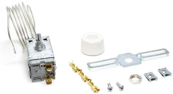 Termostato p/ Frigorifico 1 Porta 2 Contactos Capilar 1200mm