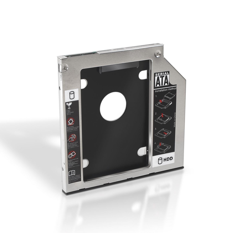 Adaptador p/ Portátil DVD 9.5 mm - SSD/HDD 2.5 - AISENS