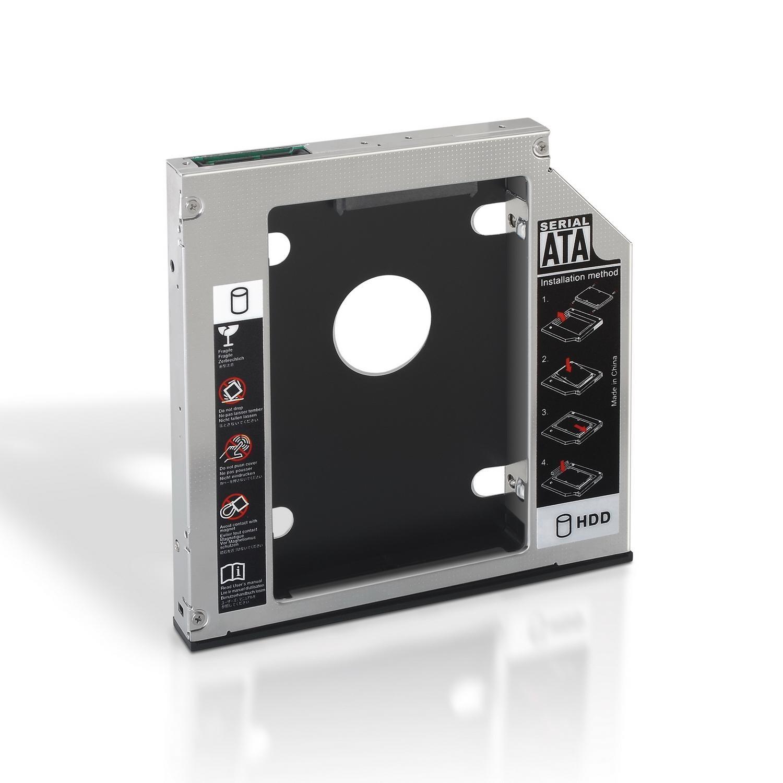 Adaptador p/ Portátil DVD 9.5/12,7mm - SSD/HDD 2.5 - AISENS