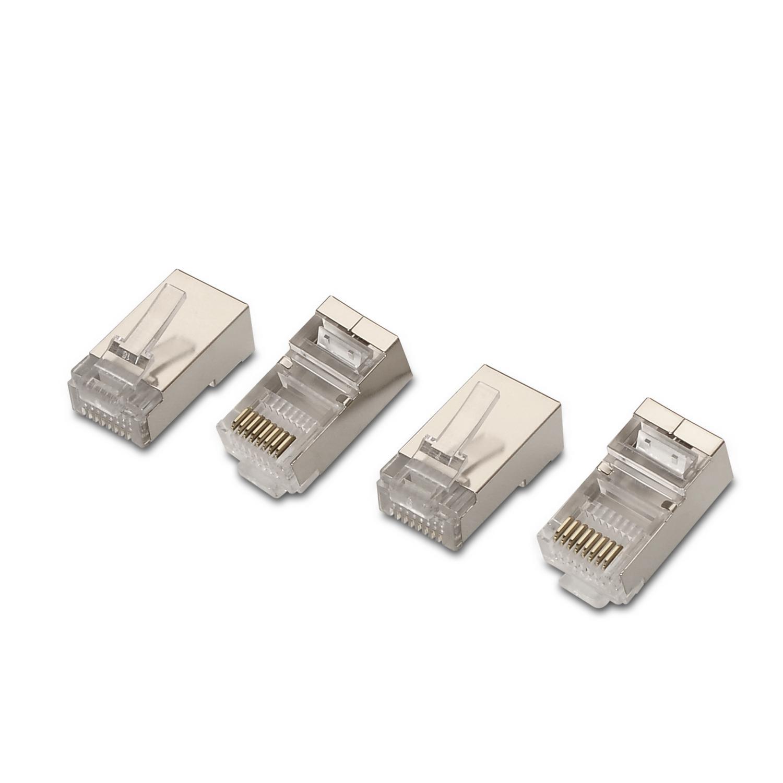 Pack 10x Fichas RJ45 Cat6 FTP (Aço Inoxidável) - AISENS