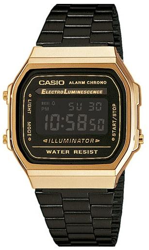 Relógio CASIO (Bracelete Preta/Dourada)