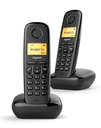 Pack 2x Telefones Digitais s/ Fios (Rede Fixa) Gigaset A170 DUO - SIEMENS