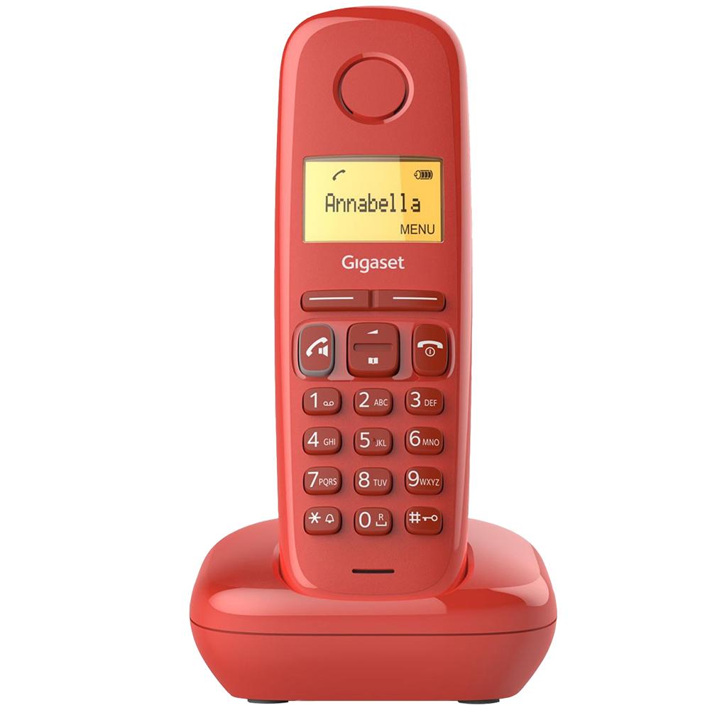 Telefone Digital s/ Fios (Rede Fixa) A170 Vermelho - GIGASET