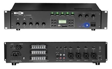 Amplificador PA 240W RMS (4 Zonas) com MP3 USB/SD, AM/FM - ACOUSTIC CONTROL
