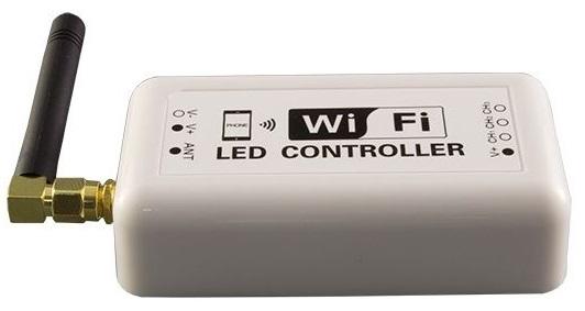Controlador Fita LED (1 Cor) 7,5 ... 24VDC 144/72W 12/6A WiFi (Android e iOS)