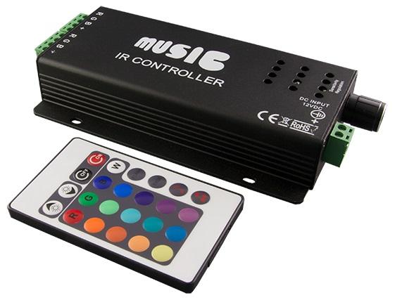 Controlador RGB através de Musica p/ Fitas de LED - ProFTC