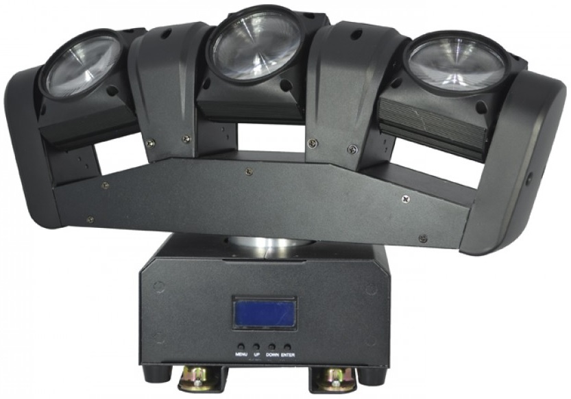 Moving Head (3 Cabeças) BEAM RGBW 36W LED DMX - ACOUSTIC CONTROL