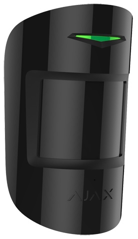 Sensor PIR/Quebra Vidros Bi-direccional s/ Fios 868MHz (Preto) p/ Alarme - AJAX