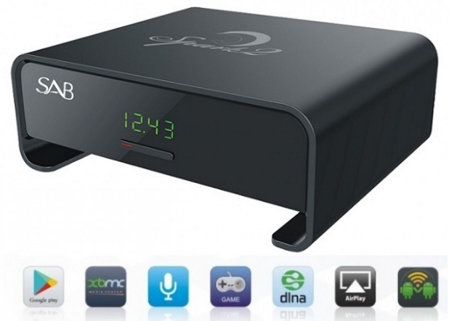 Receptor Satélite Full HD Ethernet (SMART BOX ANDROID) Preto - SAB