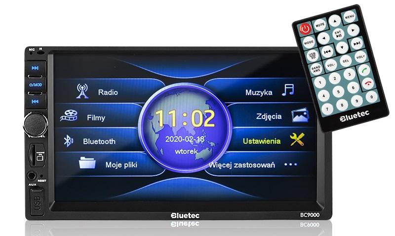Auto-Rádio 7 2 DIN Touch Bluetooth (4x 50W) - BLUETEC BC9000