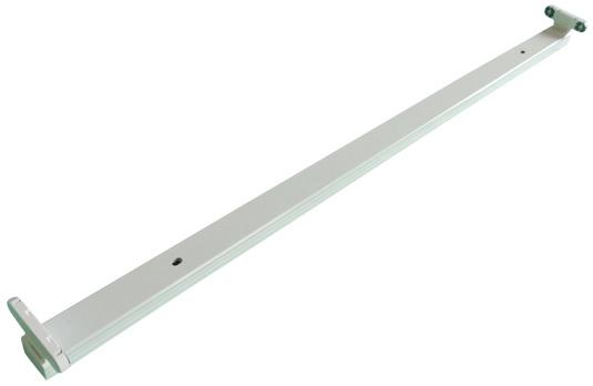 Armadura Dupla p/ 2 Lampadas Tubular LED T8 (1,20 mts)