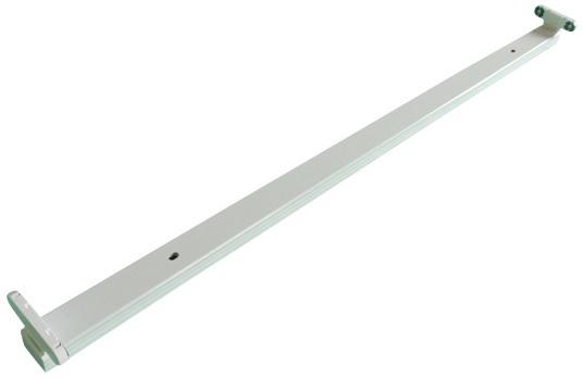 Armadura Dupla p/ 2 Lampadas Tubular LED T8 (1,50 mts)